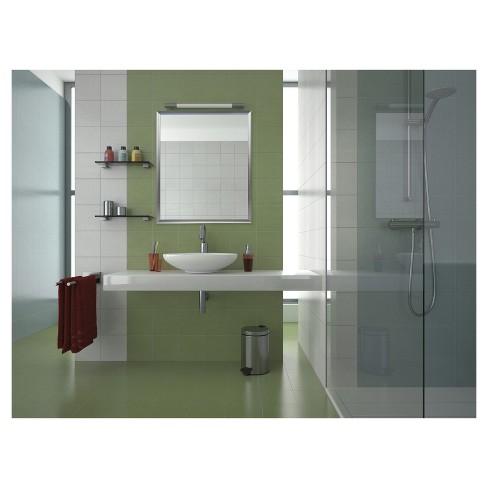 24x30 Brushed Nickel Aluminum Vanity Mirror With 1 4 Wide Moulding Silver Nielsen Bainbridge Target