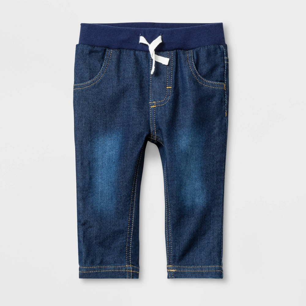 Image of Baby Boys' Knit Repreve Jeans James Wash - Cat & Jack Blue 0-3M, Boy's