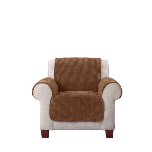 Wide Wale Corduroy Chair Furniture Cover - Sure Fit - image 1 of 3
