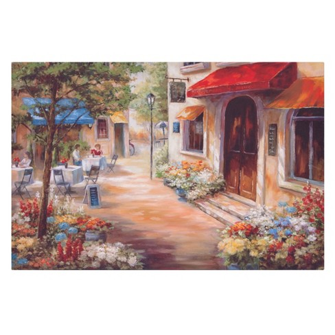 """24""""x36"""" Cafe Afternoon Landscape Canvas Art Tan - Patton Wall Decor - image 1 of 5"""