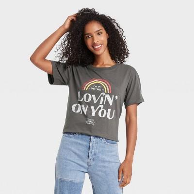 Women's Luke Combs I'm Lovin' On You Short Sleeve Graphic T-Shirt - Charcoal Gray