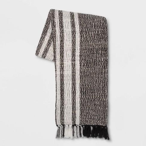 Woven Cotton Stripe Throw Blanket - Threshold™ - image 1 of 4