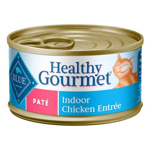 Blue Buffalo Healthy Gourmet Adult Pate Indoor Chicken Entree Wet Cat Food - image 1 of 4