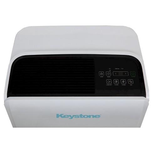 Keystone - Energy Star 95 Pint Dehumidifier with Built-In Pump - Black/White
