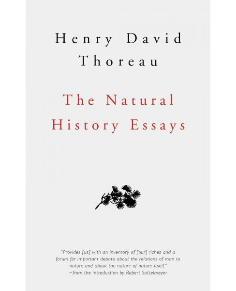 Natural History Essays -  Revised by Henry David Thoreau (Hardcover) - image 1 of 1