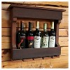 """18"""" Wall Mounted Wine Rack with Shelf Western Red Clear Oil Finish - Red Cedar - Gronomics - image 2 of 2"""