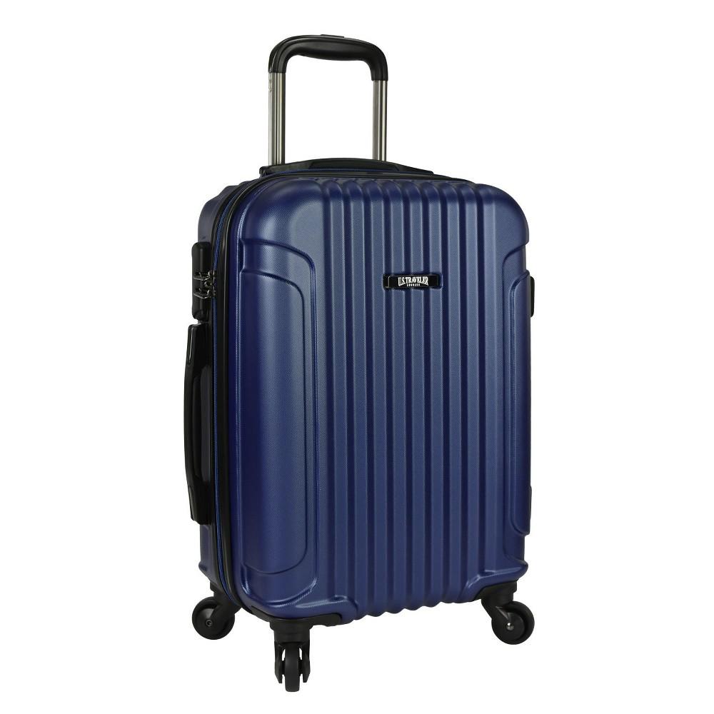 U.S. Traveler 21 Akron Hardside Spinner Suitcase Set - Navy (Blue)