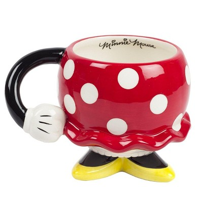 Fashion Accessory Bazaar LLC Disney Minnie Mouse Red Rock the Dots Molded Mug with Arm