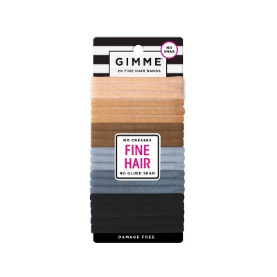 Gimme Clips Fine Hair Bands - Neutral - 20ct