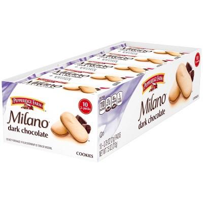 Pepperidge Farm Milano Dark Chocolate Cookies - 7.5oz/10ct