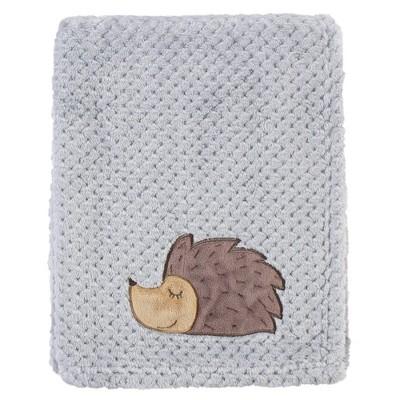 Hudson Baby Unisex Baby Plush Waffle Blanket - Hedgehog One Size