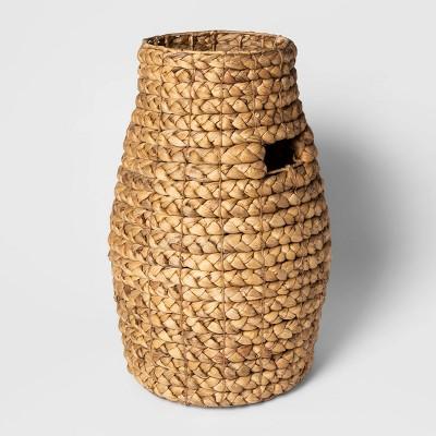 "20""x13.3"" Decorative Braided Tall Basket Natural - Threshold™"