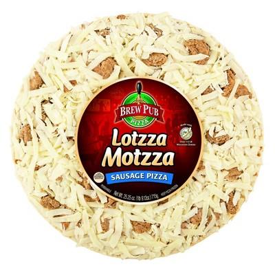 Brew Pub Lotzza Motzza Sausage Frozen Pizza - 25.25oz