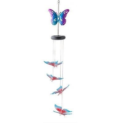Wind & Weather Lighted Solar Butterfly Mobile