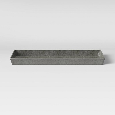 31  Rectangular Iron Boot Tray Darkened Zinc Natural - Smith & Hawken™