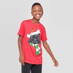 Boys' Star Wars Darth Vader Santa Short Sleeve T-Shirt - Red