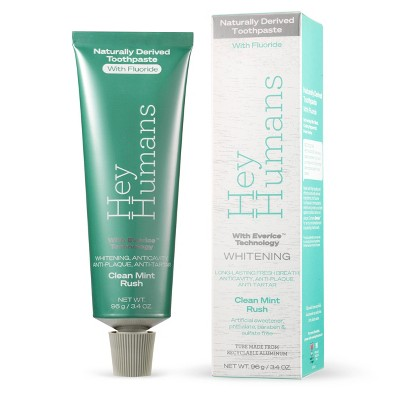 Hey Humans Fluoride Toothpaste Clean Mint Rush - 3.4oz
