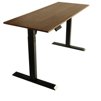 TechOrbits Electric Standing Desk Frame With 60 x 24 Inc Tabletop - Motorized Workstation Two Leg Stand Up Desk With Memory Settings And Telescopic Sit Stand Height Adjustment