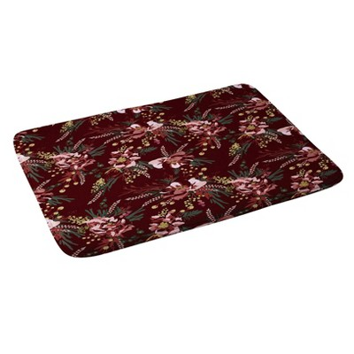 """24""""x36"""" Wild Poppy Bath Rugs And Mats Red - Deny Designs"""