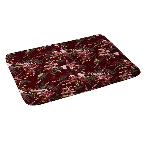 """24""""x36"""" Wild Poppy Bath Rugs And Mats Red - Deny Designs - image 1 of 1"""