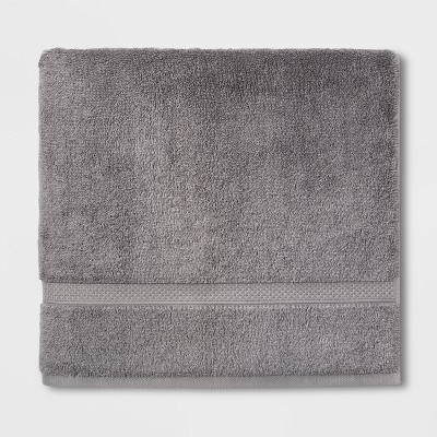 Soft Solid Bath Towel Dark Gray - Opalhouse™