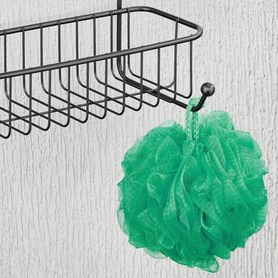MDesign Metal Over Shower Door Caddy, Bathroom Storage Organizer : Target