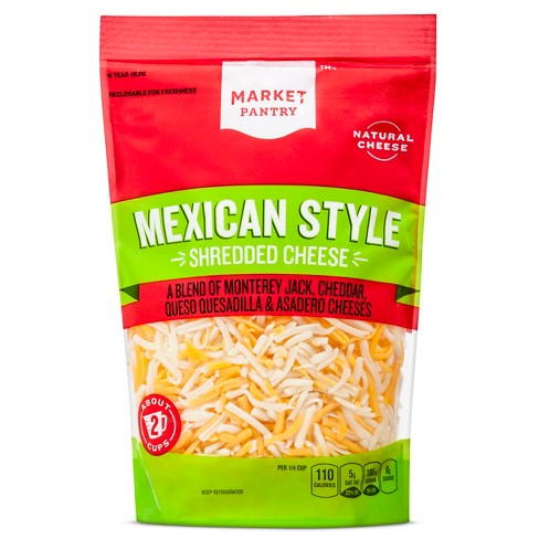Finely Shredded Mexican Style Four Cheese-Blend - 8oz - Market Pantry™ - image 1 of 1