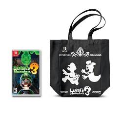 Luigi's Mansion 3 – Nintendo Switch + Canvas Bag Bundle