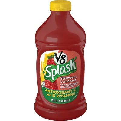 V8 Splash Strawberry Lemonade Juice - 64 fl oz Bottle