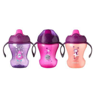 Tommee Tippee Infant Trainer Sippee Cup Girl - 3pk/24oz Total 7+M Pink