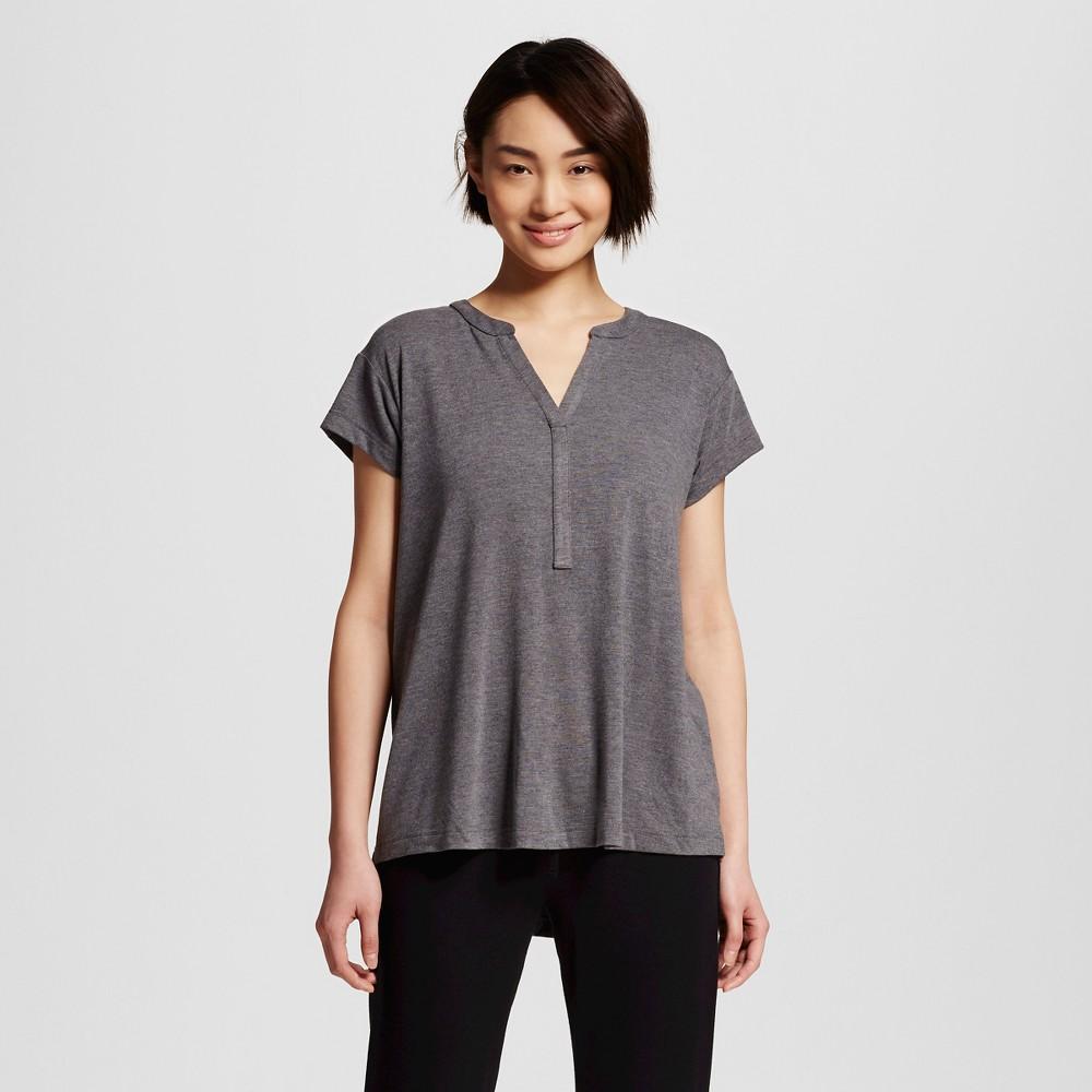 Women's Sleepwear Fluid Knit Short Sleeve Tunic Top - Gray M, Shaded Blue