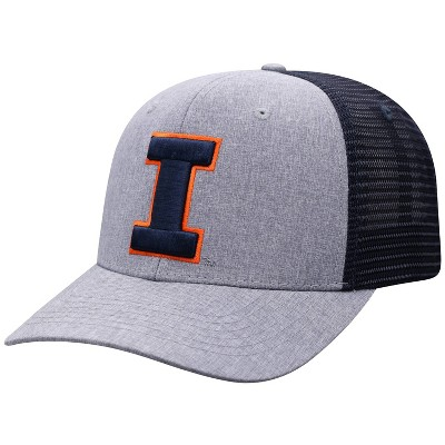 NCAA Illinois Fighting Illini Men's Gray Chambray with Hard Mesh Snapback Hat