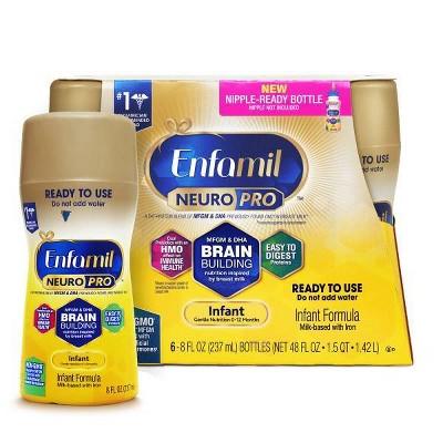 Enfamil Non-GMO Ready-to-Feed Infant Formula - 8oz bottles (6ct)