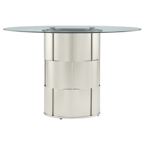 Lovenia Metal Dining Table Metal/Chrome - Inspire Q - image 1 of 4