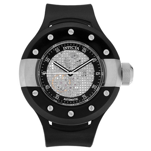 Men's Invicta 20101 S1 Rally Automatic 3 Hand Black Dial Strap Watch - Black - image 1 of 3