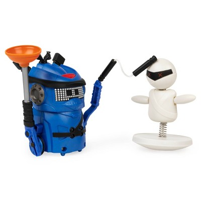 Ninja Bots Battling Robot with 3 Weapons Trainer - Blue