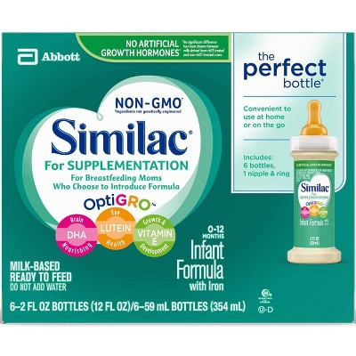 Similac Supplementation Infant Formula - 2oz/6pk
