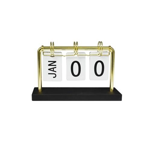 Desk Calendar Gold - Threshold™ - image 1 of 3