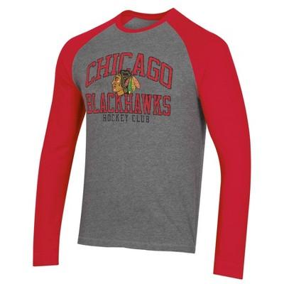 NHL Chicago Blackhawks Men's Long Sleeve Raglan T-Shirt - L
