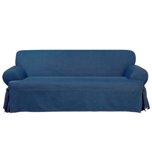 Authentic Denim T Sofa Slipcover Indigo