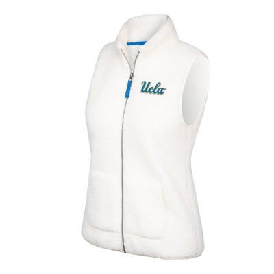 NCAA UCLA Bruins Women's White Sherpa Vest