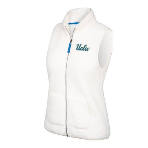 NCAA UCLA Bruins Women's White Sherpa Vest - image 1 of 1