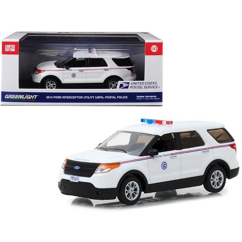 2014 Ford Interceptor Utility Postal Police United States Postal Service (USPS) White 1/43 Diecast Model by Greenlight - image 1 of 1