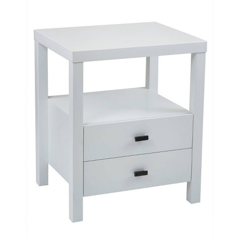 Westwood Acacia Accent Table White - East At Main - image 1 of 4