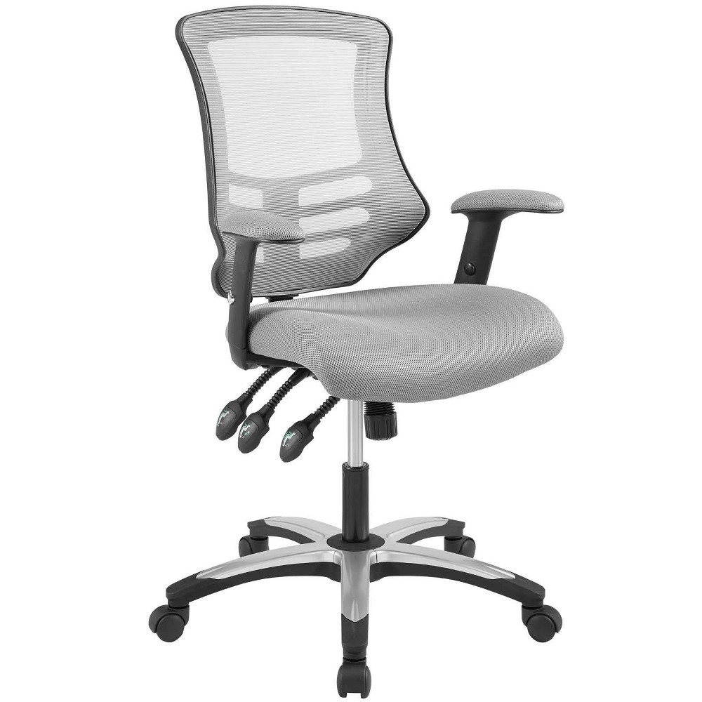 Calibrate Mesh Office Chair Gray Modway