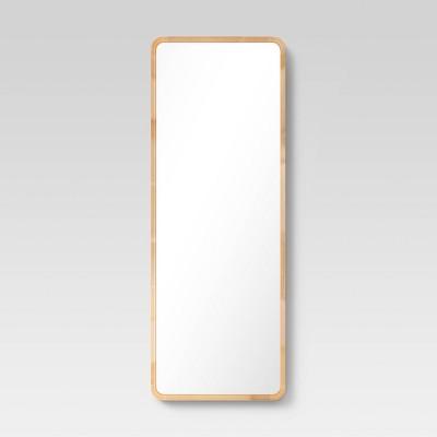 "22"" x 60"" Wood Leaner Mirror - Threshold™"