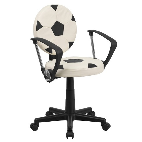 Soccer Task Chair with Arms - Flash Furniture - image 1 of 4