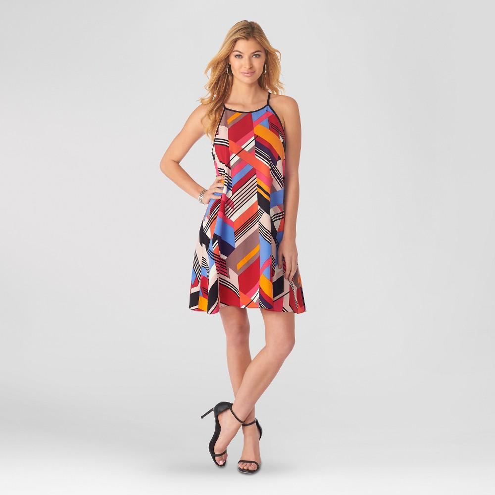 Women's Printed Crepe Swing Tank Dress XL Pink - Sami & Dani