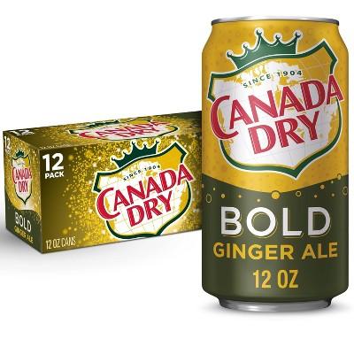 Canada Dry Ginger Ale Bold Soda - 12pk/12 fl oz Cans