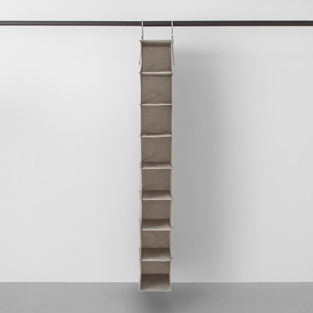 8 Shelf Hanging Fabric Shoe Organizer Light Gray - Made By Design